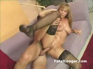 Big titties blonde cougar fucks and gets oral cumshot