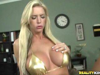 Busty blonde big tit boss sex