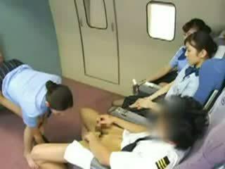 pijpbeurt seks, seks klem, stewardess neuken