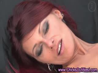 Redhead gilfriend takes it like a pro