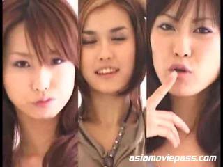 Aasialaiset tytöt swallowing semen