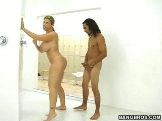 nominale douche gepost, van achter scène, nominale pik rit tube