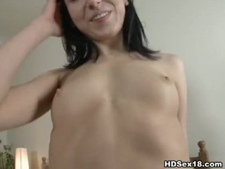 nice brunette mov, young thumbnail, full nice ass clip