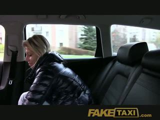 Faketaxi randy blonde milf loves la bite