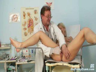 Mature Romana Gynochair Hoochie Speculum Examination By Gyno Doctor