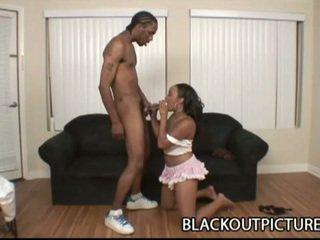 Luscious thick black cock whacks big ass ebony