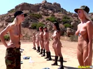 Breanne Benson and her 10 gfs in lesbians army