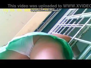 White full-back panty hq upskirt