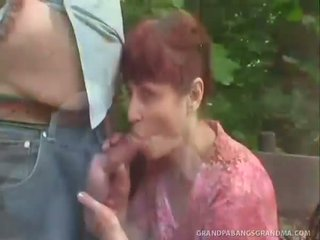 Redhead Granny Wanesa Pumped In Her Tight Pussy