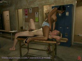 Ebony TS Pounding A Male Asshole