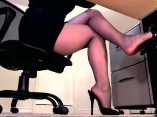 heet femdom actie, meest benen klem, nieuw domina