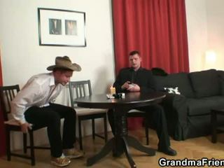 Poker-playing Granny Fucked By T...