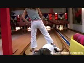 public sex, old man, public blowjob, flash in public sex