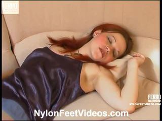 Agatha And Paul Spicy Pantyhose Feet Action