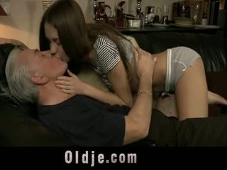 Naughty Teen Takes It Anal From Perv Old Man