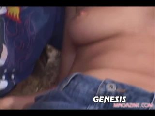 Redhead getting double penetrated in hot 3 some
