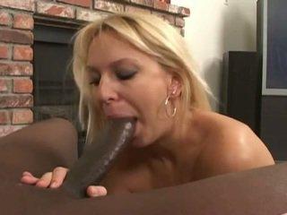 Blonde milf gets a nice big black cock