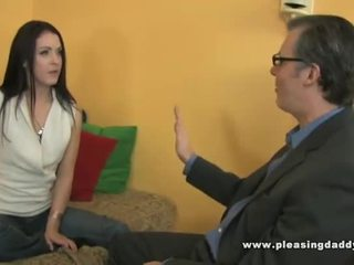 Young Horny Slut Fucks Her Old Landlord For The Rent