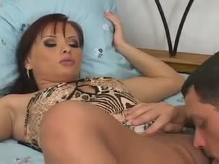 Katja Kassin - Ripped up crotchless pantyhose sex and foot fetish