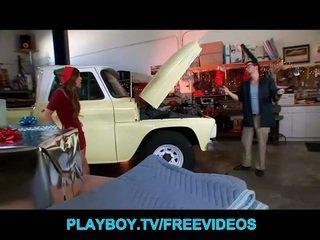 Cute elf teen banged by a mechanic