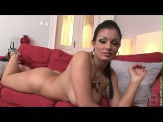 Wicked babeh aria giovanni enjoys rubbing and playing her big juggs
