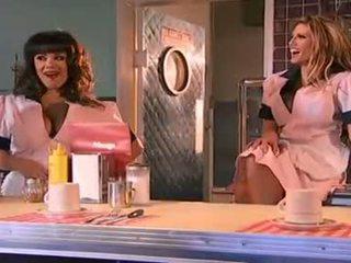 Big tittied tart Shyla Stylez and Taylor Vixen lick labia and tongue twat