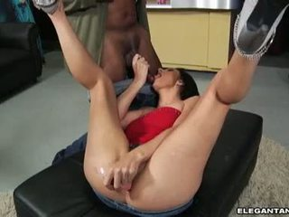 Roxanne Hall Polishing The Wang Of Her Sexy Partner