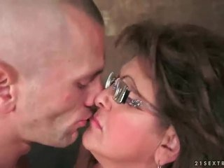 groot video-, brunette, heet kerel porno