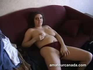 Homemade horny geek plumper amateur girlfriend hairy pussy touching