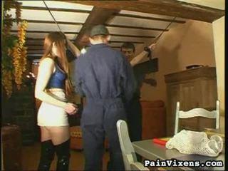 heet bdsm vid, slavernij, heetste extreme pijn sex mov