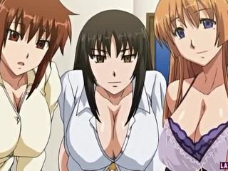 Tre enorme titted hentai babes