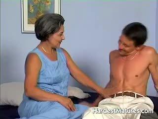 oma, pijpbeurt film, vol volwassen porno