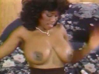 u grote borsten video-, gratis wijnoogst actie, ideaal zwart en ebony