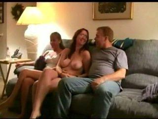 brunette, oral sex, group sex
