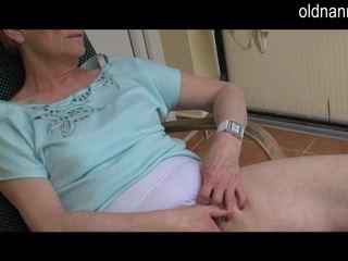 Old Granny masturbation with big black cock Video