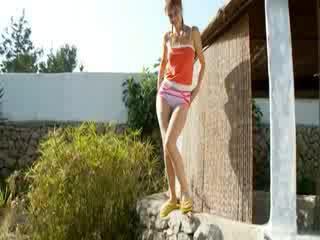 Peeing of beautiful serbian babe