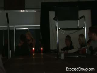 Smoking hot girl in black boots getting wild and naughty at the sex show