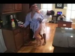 Mature housewife and her black lover