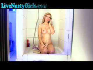 Stunning Blonde Takes SHower On Cam F