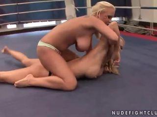 een lesbisch video-, alle lesbische strijd porno, u muffdiving vid