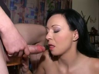 Sexy Brunette Mouth Pissed And Giving Oral