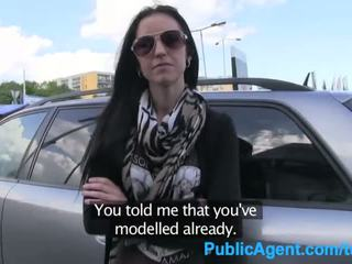 PublicAgent Ex model sucks and fucks big cock to get back in the business