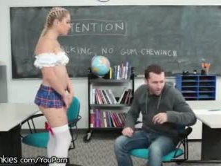 Slutty Teen Schoolgirl Horny in Detent...
