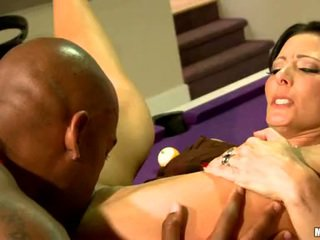 Zoe Holloway Lie On BilLiard Table And Licked Hard
