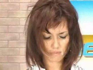 Notícia asiática miúda getting ejaculação na cara viver