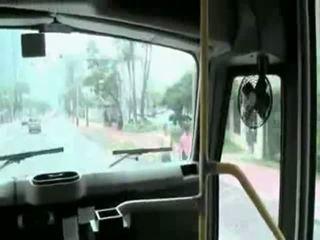 blowjob, public, bus