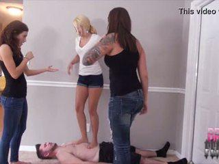 Hard Trampling Threesome