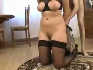A black covered dude forced a milf to penetrate his big dick