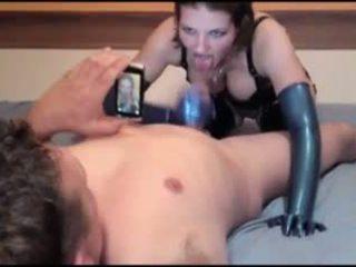 Latex Schlampe German Girl Blue Latex Gloves Fuck: Porn c5