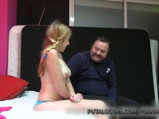 PUTA LOCURA Naive Latina Teen creampied by old man